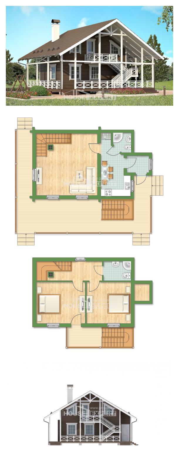 Проект дома 080-001-П | House Expert